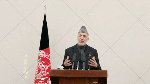 president Karzai renews call for calm