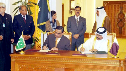 signing of an MoU for energy between Pakistan and Qatar