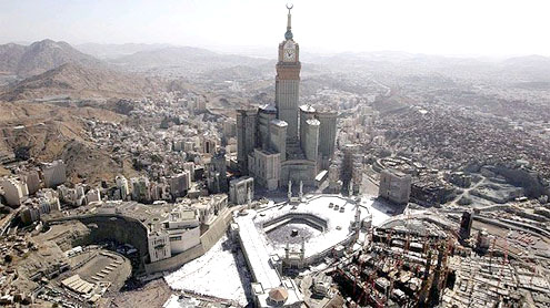 the Grand Mosque in Makkah