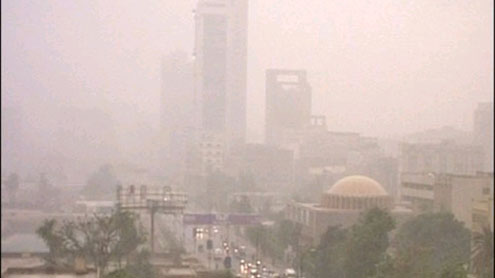 Duststorm lashes Karachi