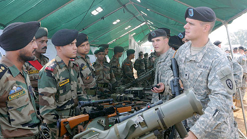 India joint military exercise with the US