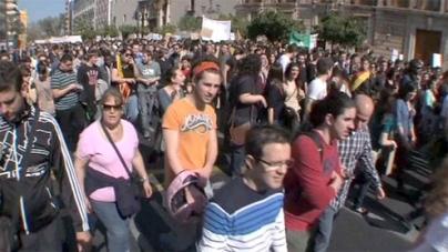Thousands protest against European Union austerity cuts