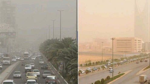 sandstorms in Saudi cities