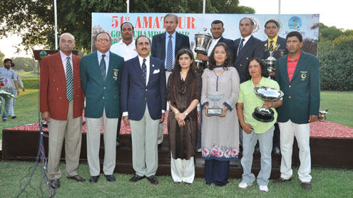 Thangaraja wins mens title and Ghazala the ladies title in 51st National Golf