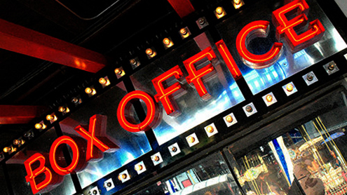 The top films at the North American box office