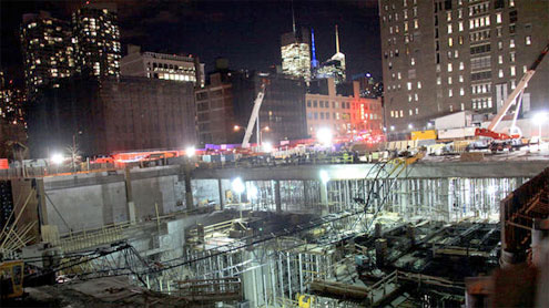 One Killed and Four Hurt in Crane Collapse on West Side