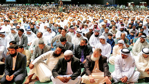 60,000 attend prayers at peace convention
