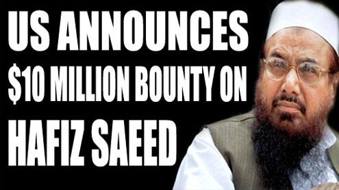 US announces $10 million bounty on Lashkar chief's head