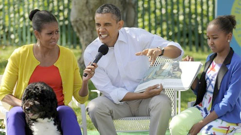 """President Obama gets """"wild"""" at annual Easter-egg roll"""