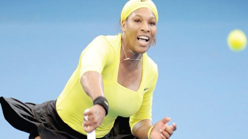 Serena routs Safarova to win first title of 2012