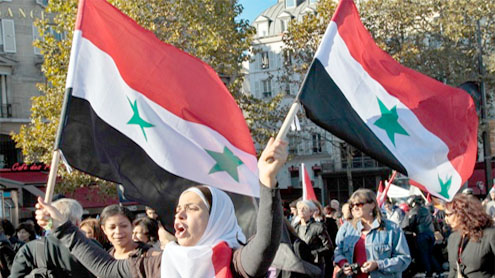 Ambassadors wives, film stars, launch Syria protests