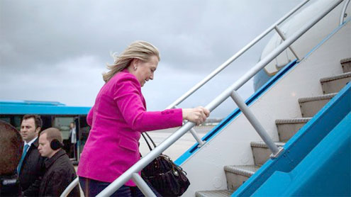 Clinton to Iran: Show that nuclear arms not sought