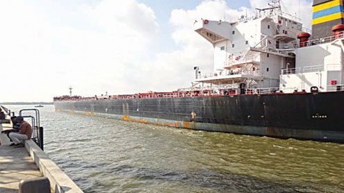 Largest-ever cargo vessel in Pak's history arrives at FAP Terminals at PQA