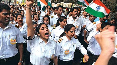 Air India cancels flights as pilots strike