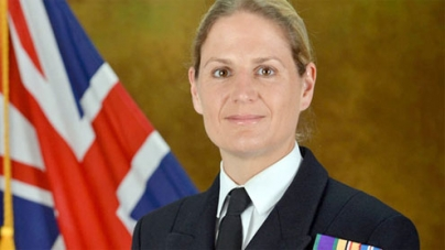 Britain's first female warship commander