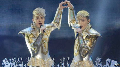 Irish act Jedward reach Eurovision final in Azerbaijan
