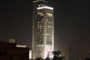MCB Tower at night