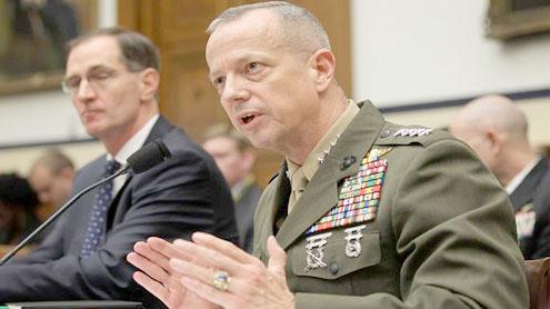 US Gen. Allen to leave Afghanistan post