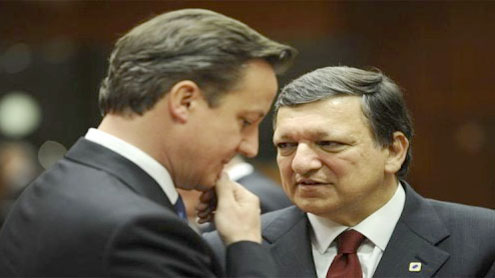 Britain shouts from sidelines in eurozone crisis