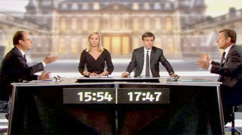 France election: Sarkozy and Hollande trade insults