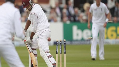 West Indies 243-9 against England