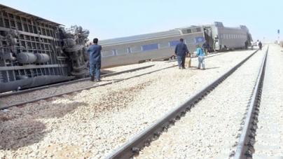 Dozens injured as train derails