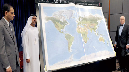 Largest world atlas released