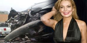 Lindsay Lohan escapes injury after car crash