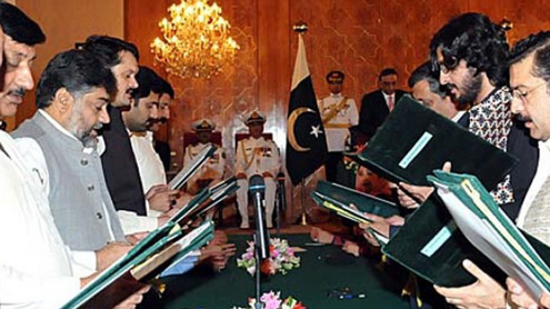 PM, his 38-member cabinet take oath