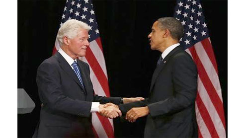 Obama, Bill Clinton court New York elite to raise millions
