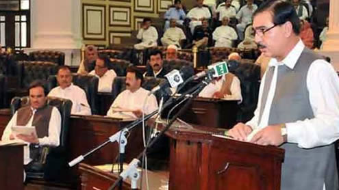 Marred by walkouts, K-P passes budget for fiscal year 2012-2013