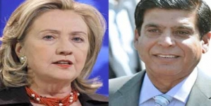Clinton congratulates Raja Pervez on becoming PM