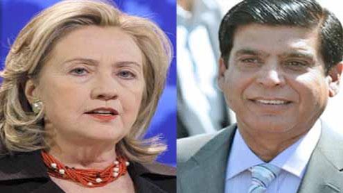 Clinton congratulates Raja Pervez on becoming PM