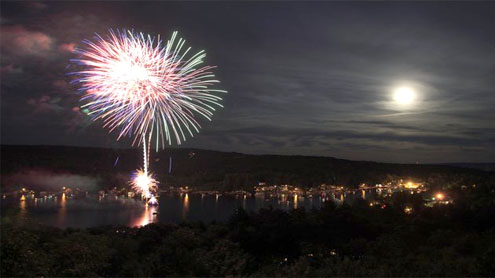 Many Americans have throwback Fourth without power