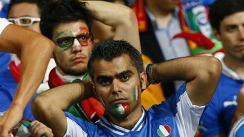 """Italian fans stunned by """"humiliating"""" Euro rout"""