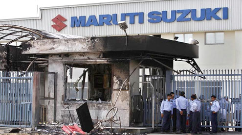 Maruti Suzuki manager burned to death by workers