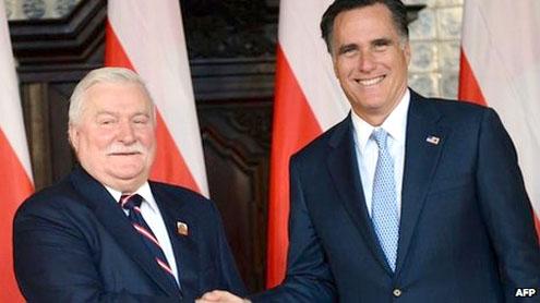 Mitt Romney Poland visit stirs Solidarity