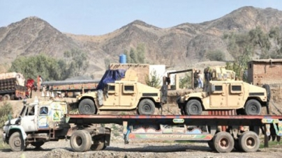 NATO supply trucks surge at Pakistan border