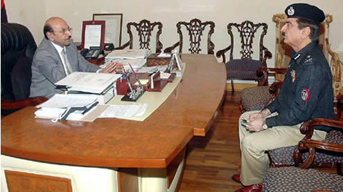 CM Sindh and IGP Sindh