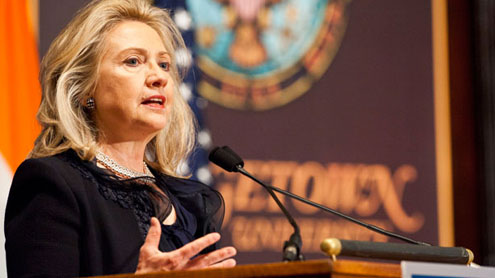 Clinton hopes ties with Pakistan to improve after NATO supplies restoration