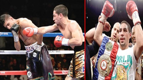 Garcia stuns Khan to unify WBA, WBC titles