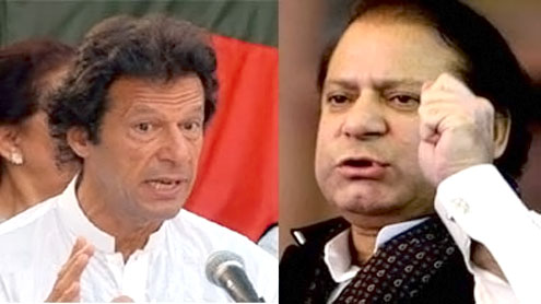 Imran says he will contest elections against Nawaz