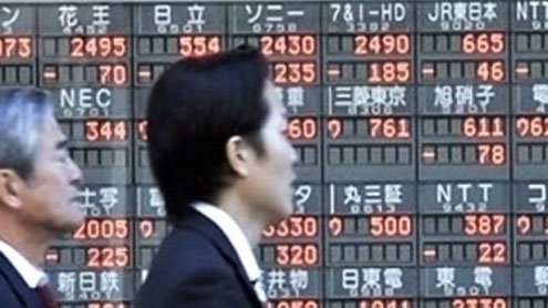 Asian markets mostly down, dealers await stimulus