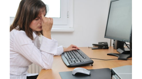 Eye-strain more often traced to computer use