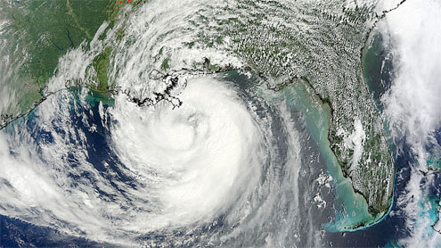 Hurricane Isaac marches slowly up the Louisiana and Gulf coasts
