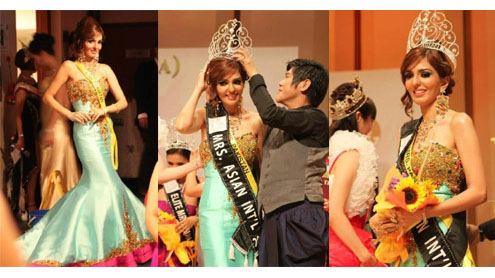 Mrs Pakistan 2012 crowned Mrs Asian International