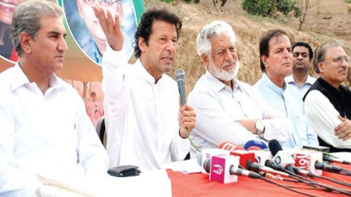 PML-N accuses Imran of 'gambling away' SKMCH money, PTI chief cries foul play
