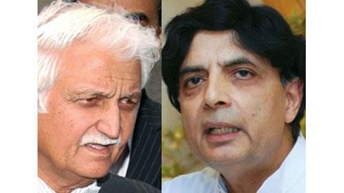 Senator Farhatullah Babar and Ch Nisar Ali Khan