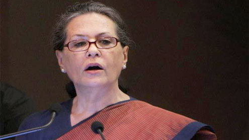 Sonia lashes out at BJP