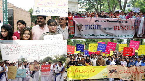 Lahore rallies in fight against dengue